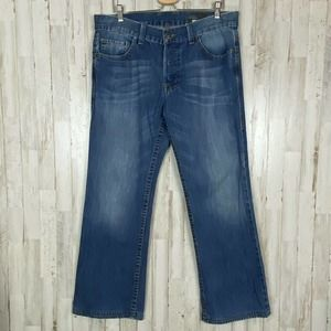 William Rast Mens Jean 36 X 30 Straight Button Fly